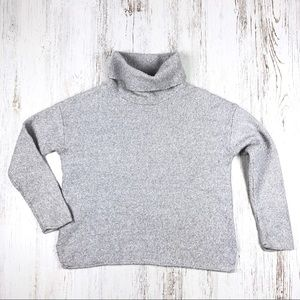 Athleta Funnel Neck Marled Wool Sweater S